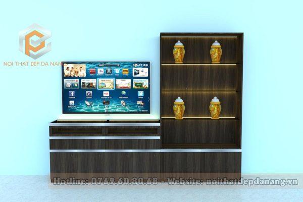combo kệ tivi và tủ trang trí - ktt10007